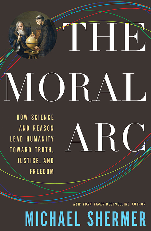 book cover: The Moral Arc