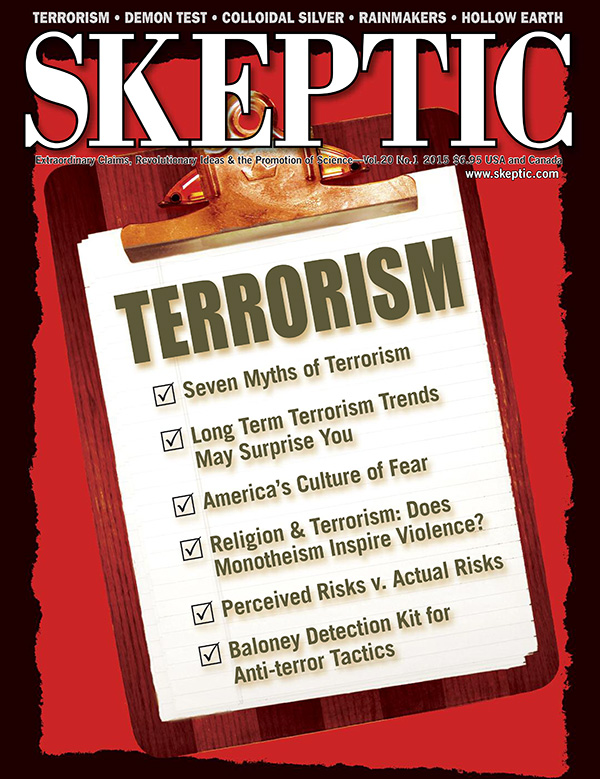 Skeptic magazine, vol 20, no 1 (cover)