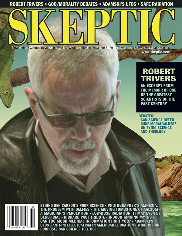 Skeptic Vol 20 No 4 2015 Robert Trivers God Morality Debates FREE SHIPPING sb