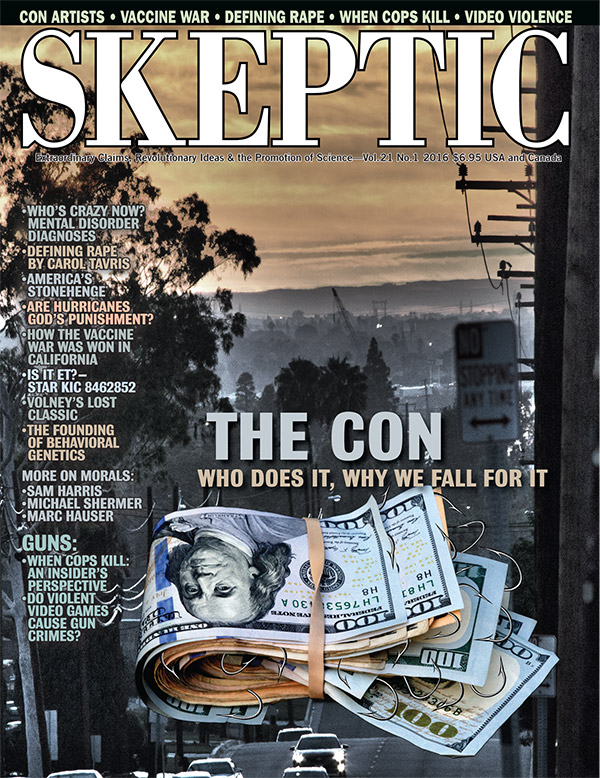 Skeptic magazine issue 21.1 (cover)