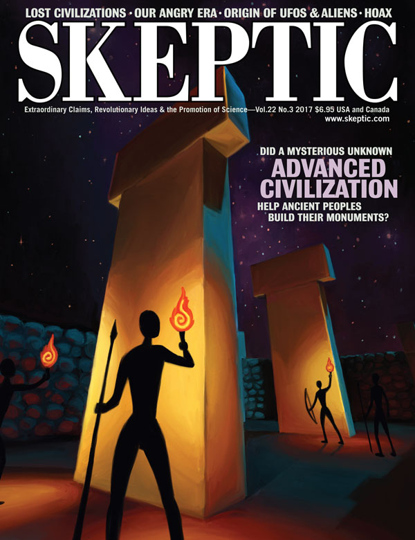 Skeptic magazine, vol 22, no 3 (cover)