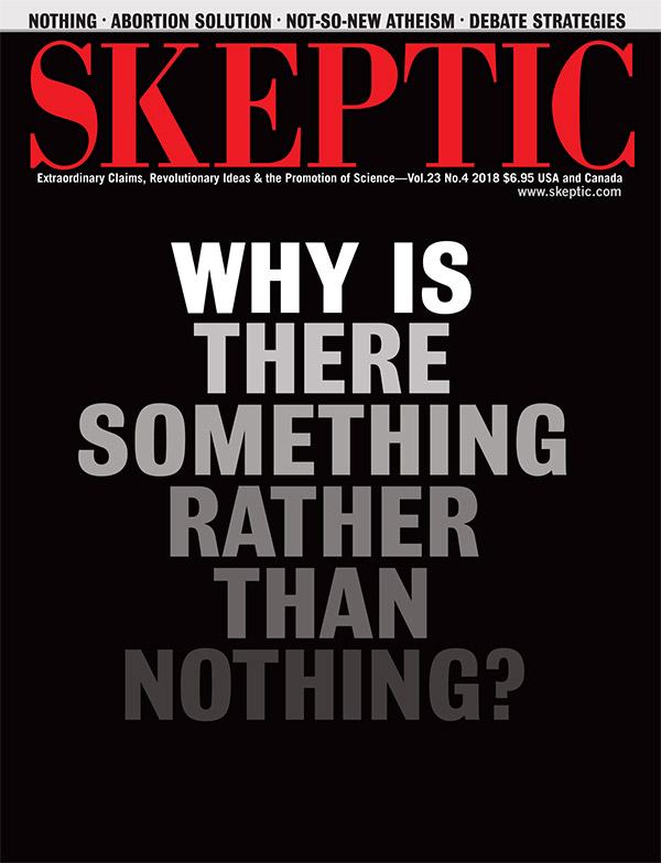 Skeptic magazine, vol 23, no 4 (cover)