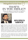 Forbidden Tales in the Bible, by Jonathan Kirsch