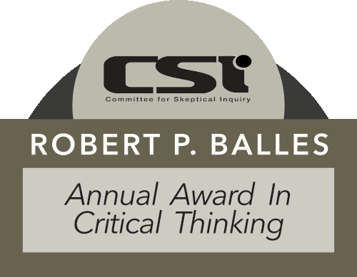 2017 Robert P. Balles Award in Critical Thinking, Winner